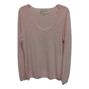 Debbie Morgan V-neck Longsleeve Embellished Soft Knit Sweater