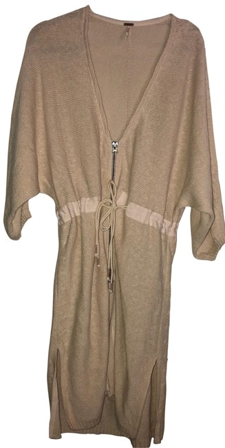 Item - Oatmeal Zip Up/Down Mid-length Short Casual Dress Size 14 (L)