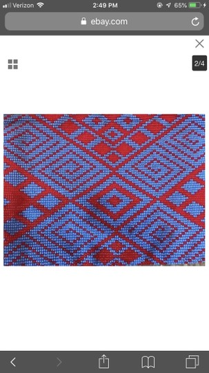 Madewell MADEWELL X MESO GOODS SMALL BEADED POUCH. COLOR: MULTI. ITEM # G3571. Image 1