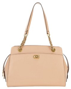 Coach New With Tag Leather Tote in beechwood