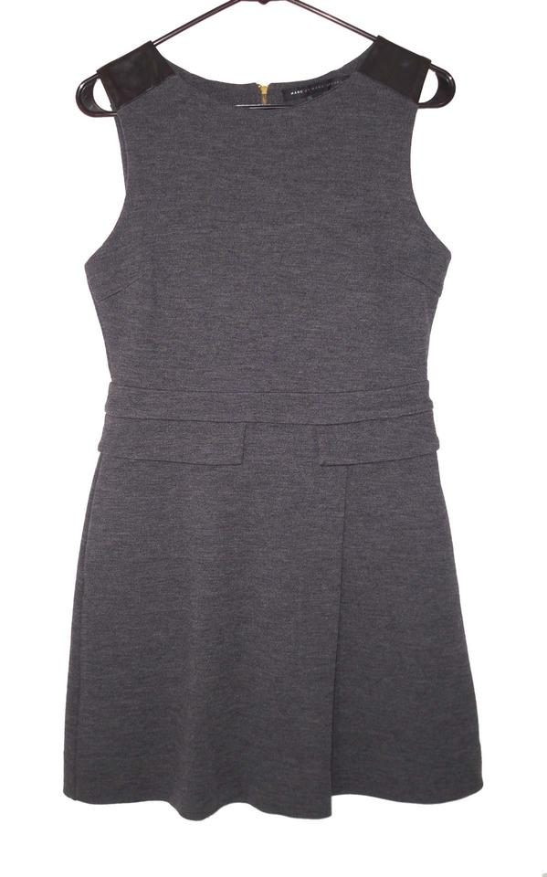 meet 2c91e 9cb00 Marc by Marc Jacobs Gray Milly Milano Short Work/Office Dress Size 6 (S)