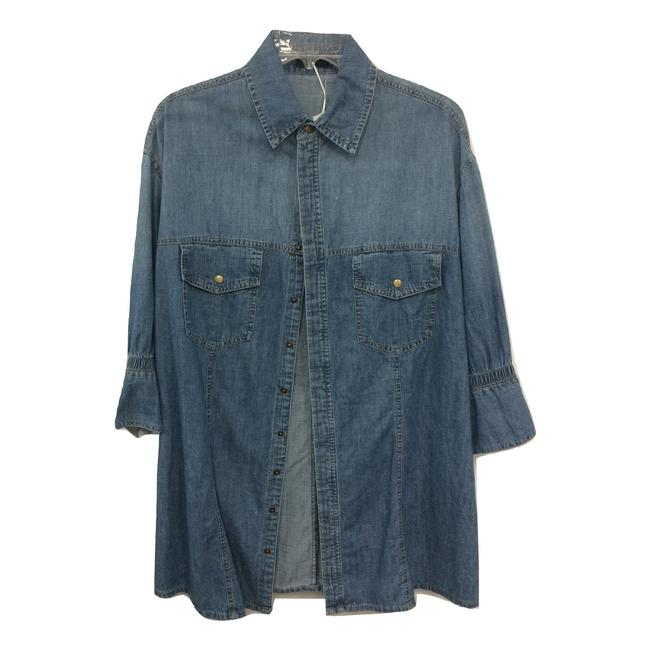 Item - Blue Oversized Denim Button-down Top Size 18 (XL, Plus 0x)