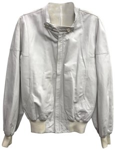 BALLY WHITE Leather Jacket
