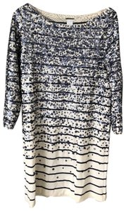 J.Crew short dress Navy and White on Tradesy