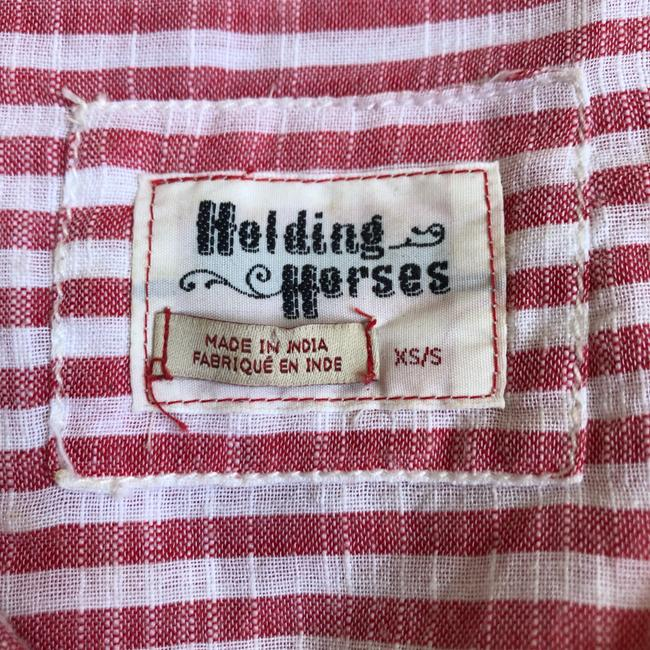 Anthropologie Button Down Shirt red and white Image 10
