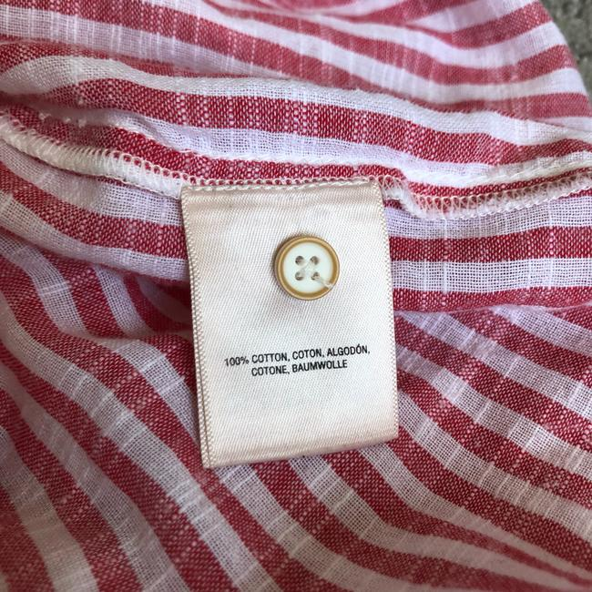 Anthropologie Button Down Shirt red and white Image 11