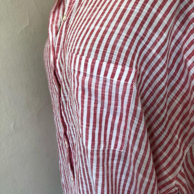 Anthropologie Button Down Shirt red and white Image 9