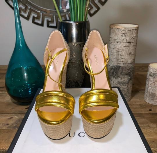 Gucci Gold Wedges Image 3