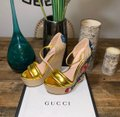 Gucci Gold Wedges Image 7