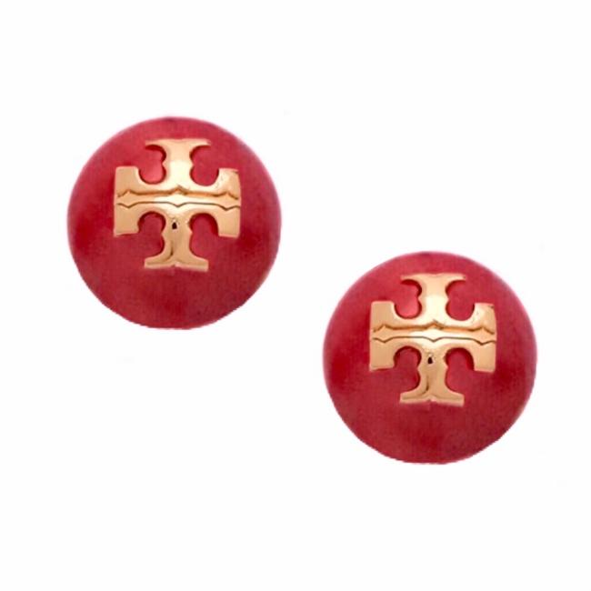 Item - Red Pearl Evie Logo Earrings