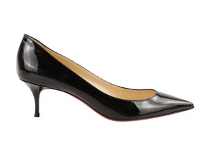 Christian Louboutin Pigalle Follies Patent Leather Kitten Black Pumps