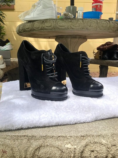 Chanel black and gold Boots Image 2