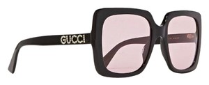 Gucci logo rhinestone oversized square framed sunglasses