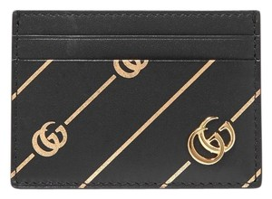 Gucci Gg logo printed leather card holder