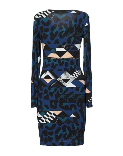 Versace Jeans Collection Italian Bodycon Designer Dress Image 1