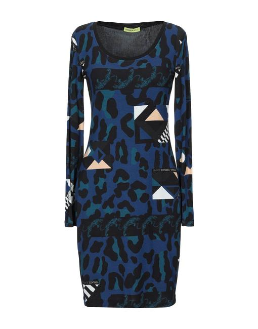 Versace Jeans Collection Italian Bodycon Designer Dress Image 2