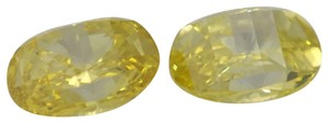 CaratsDirect2U A Pair Of Millennial Sunrise Loose 0.84 Ct Yellow Treated C23003016