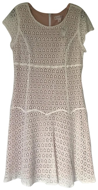 Preload https://img-static.tradesy.com/item/25760138/nanette-lepore-white-eyelet-mid-length-short-casual-dress-size-10-m-0-1-650-650.jpg