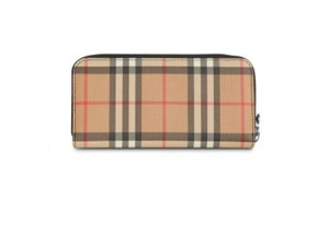 Burberry Gr new Burberry vintage check and leather zip around wallet