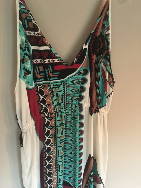 Multi Maxi Dress by Body Glove Cover Up Tribal Print Sleeveless Image 5