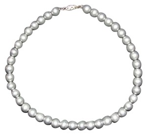 Sterling Silver Victorian Sterling Silver Ball Bead Necklace with Satin Finish