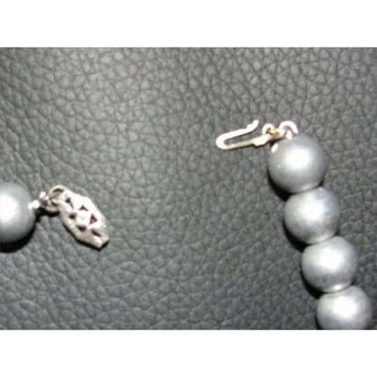 Sterling Silver Victorian Sterling Silver Ball Bead Necklace with Satin Finish Image 2