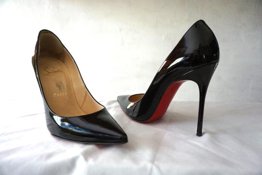 Christian Louboutin So Kate Pigalle Patent Black Pumps Image 5