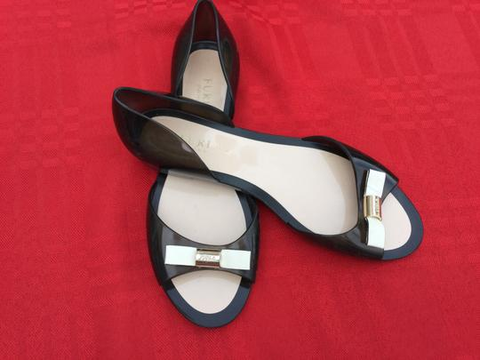 Furla Flats Jell Bow Gray Sandals Image 1