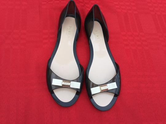 Furla Flats Jell Bow Gray Sandals Image 2