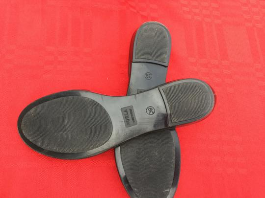 Furla Flats Jell Bow Gray Sandals Image 3