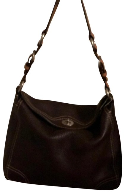 Coach Mm Brown Pebble Leather. Hobo Bag Coach Mm Brown Pebble Leather. Hobo Bag Image 1