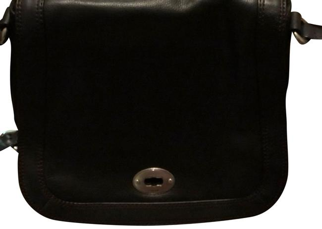 Item - Leather Black Messenger Bag