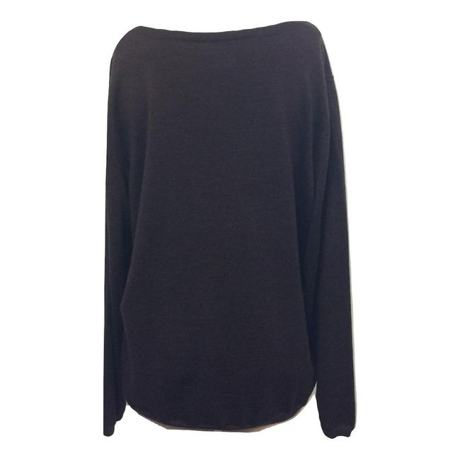 Kate Hill V-neck Wool Longsleeve Hi Lo Sweater Image 1