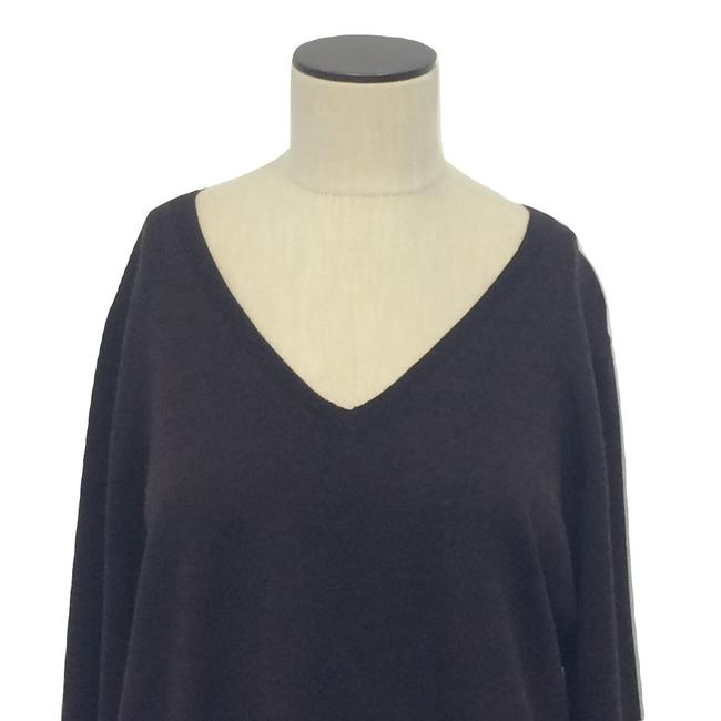 Kate Hill V-neck Wool Longsleeve Hi Lo Sweater Image 2