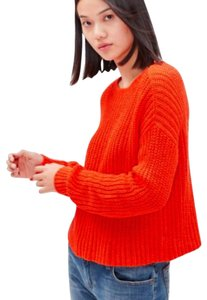 Eileen Fisher Jewel Neck Organic Cotton Boxy Dropped Shoulders Textured Knit Sweater