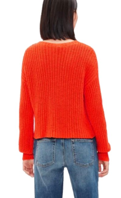 Eileen Fisher Jewel Neck Organic Cotton Boxy Dropped Shoulders Textured Knit Sweater Image 2