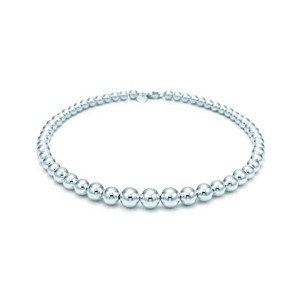 Tiffany & Co. Tiffany Graduated Beads Ball Necklace in Sterling Silver, 16in