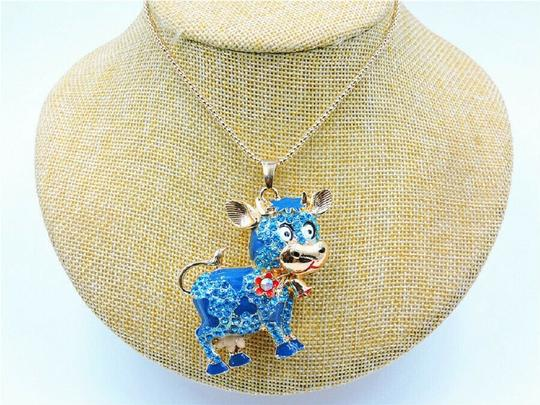 other Crystal Cow Charm Long Necklace Image 1