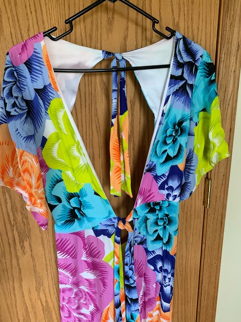 bright muticolor floral Maxi Dress by Kopper & Zink Image 4