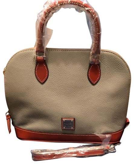 Preload https://img-static.tradesy.com/item/25760574/dooney-and-bourke-mm-gray-and-leather-pebble-satchel-0-1-540-540.jpg