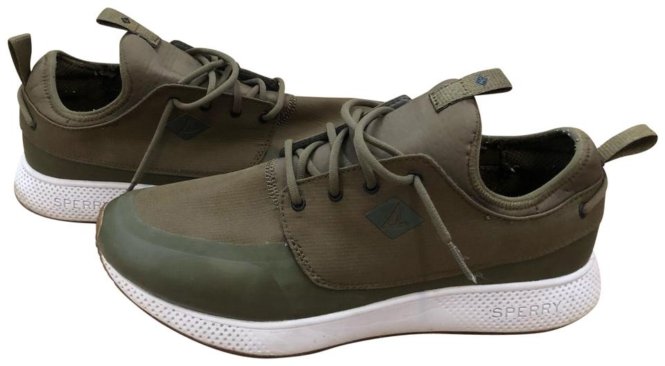 get online super cute sale uk Sperry Army Green Sneakers Size US 9.5 Regular (M, B) - Tradesy