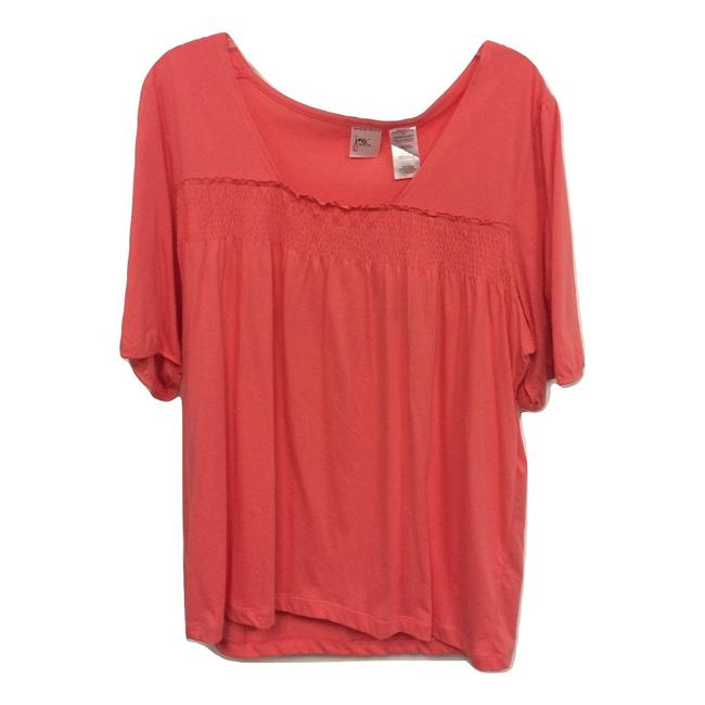 Item - Coral Smocked Pullover Blouse Size 22 (Plus 2x)