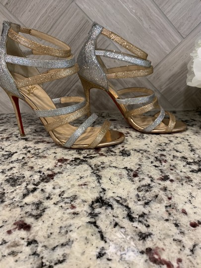 Christian Louboutin Gold and silver glitter Pumps Image 2