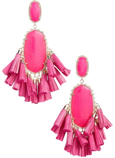 Kendra Scott Kendra Scott Pink Cristina Stone Tassel Earrings Image 0