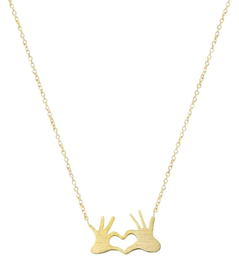 Preload https://img-static.tradesy.com/item/25760711/gold-stainless-steel-chain-double-hand-love-heart-pendants-for-women-statement-necklace-0-1-540-540.jpg