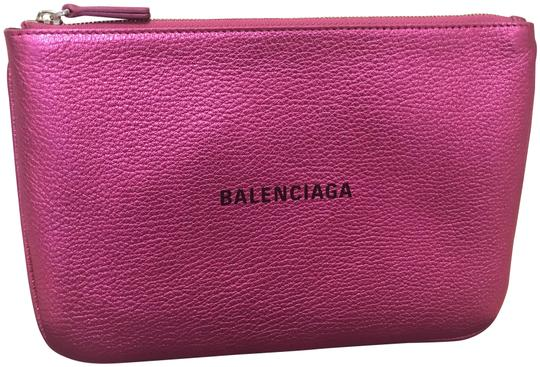 Preload https://img-static.tradesy.com/item/25760737/balenciaga-everyday-logo-pouch-pinkblack-leather-clutch-0-1-540-540.jpg