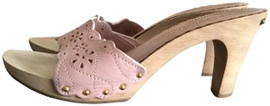 Louis Vuitton Stadded Leather Lace Blush Pink Sandals
