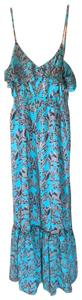 turquoise Maxi Dress by MM Couture