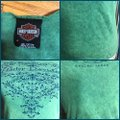 Harley Davidson Green/Blue Nwot-medium-harley-davidson Green/Blue Print/Bead Sleeved with Print/Beads Tee Shirt Size 8 (M) Harley Davidson Green/Blue Nwot-medium-harley-davidson Green/Blue Print/Bead Sleeved with Print/Beads Tee Shirt Size 8 (M) Image 3
