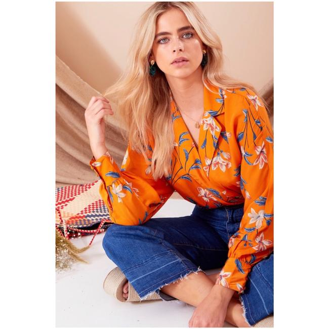Neon Rose Top floral Image 1